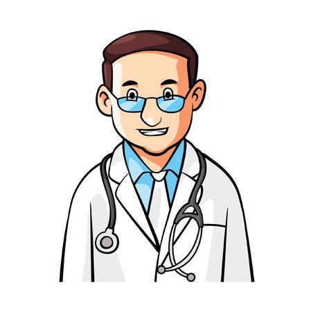 Médico de dibujos animados Ilustración