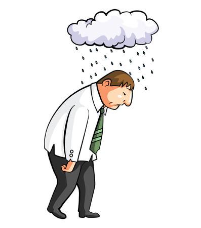 Frustated Employee Cartoon Illustration