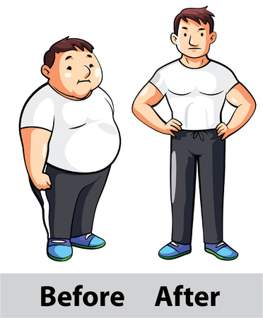 slim body: man fitness before after