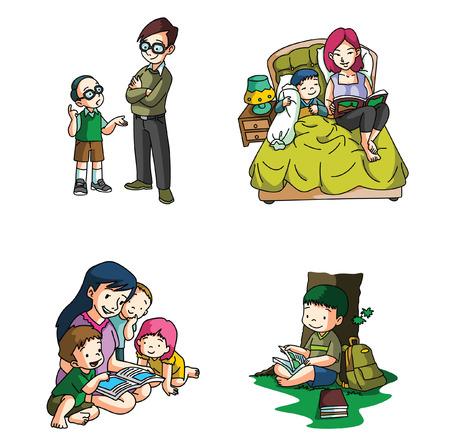 parents and children: Kids lifestyle Illustration