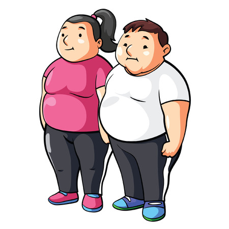 Fat Couple Illustration