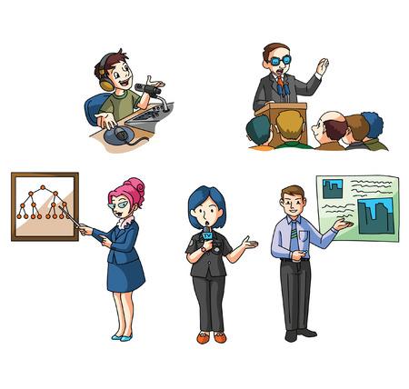 oratory: Public Presentation Illustration