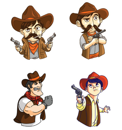 old west: Cowboy Mascot Collection