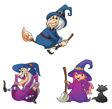 illustration collection: witches  Illustration Collection