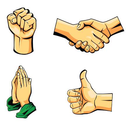 manos orando: Mano Colección