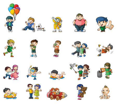 Kids Activity collection Vector