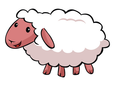Hapy sheep cartoon Ilustrace