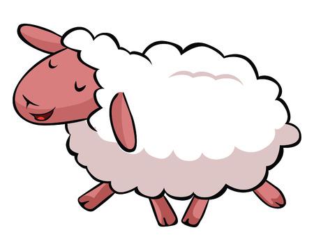 hapy: Hapy sheep cartoon Illustration