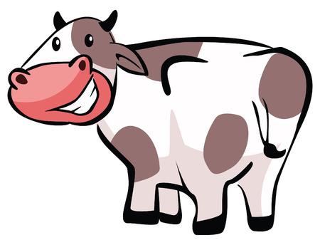 udder: Cow cartoon Illustration