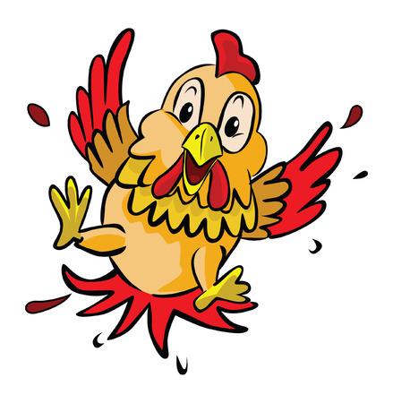 fear: chicken fear Illustration