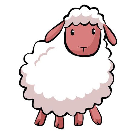 ovejas: De dibujos animados ovejas Hapy Vectores