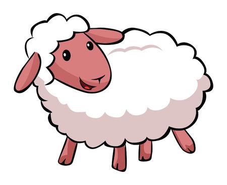 Hapy sheep cartoon  イラスト・ベクター素材