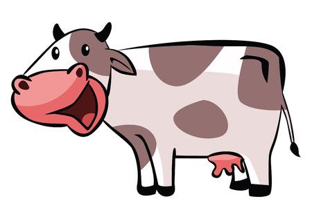 bull illustration cute animals: Cow cartoon Illustration