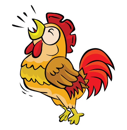 949 rooster crowing stock illustrations cliparts and royalty free rh 123rf com rooster clip art cartoon free rooster clip art free images