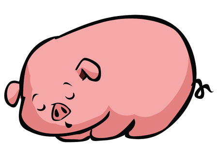 Sleepy Pig Vector