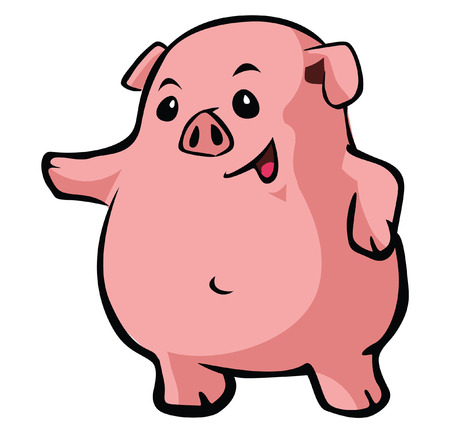 happy pig Vector