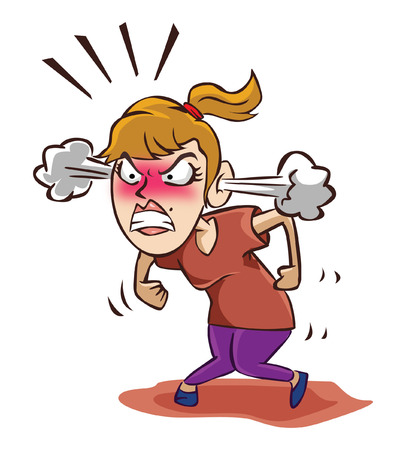 stressed business woman: Angry woman Illustration