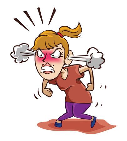 mujer enojada: Mujer enojada
