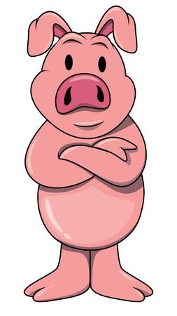 Standing pig Vector