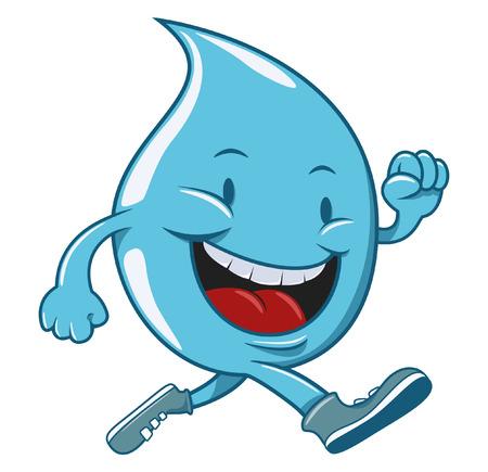 blue man: Running man character Illustration