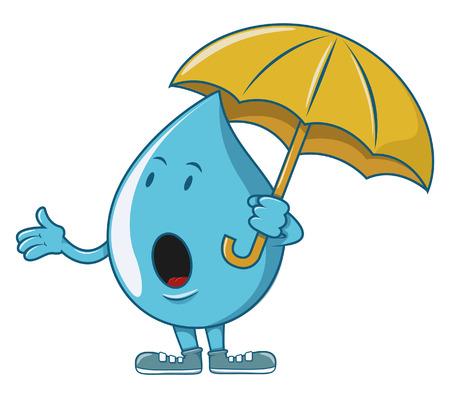 Water character waiting rain Vector