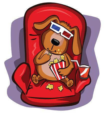 Dog watching 3D Illustration