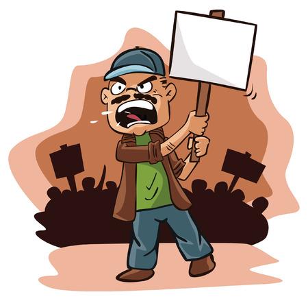 Protest man  イラスト・ベクター素材