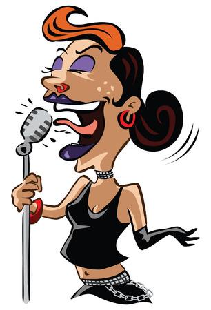 rockstar: Rockstar lady Illustration