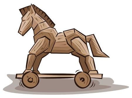cavallo di troia: Giocattoli del cavallo di Troia Vettoriali