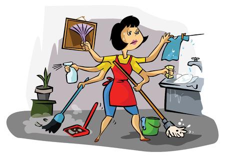 Maman occupée Banque d'images - 41500949