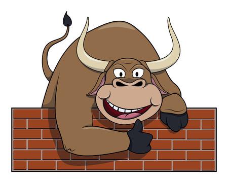 the matador: Bull cartoon illustration