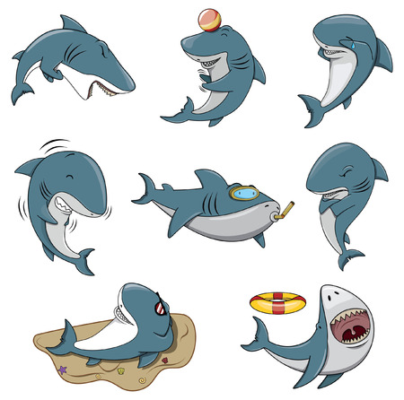 shark mouth: Shark Character set collection