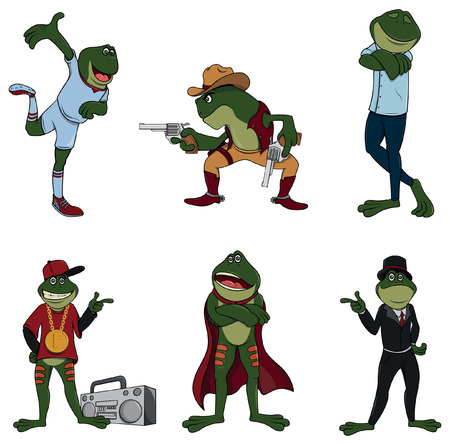 Frog character set collection
