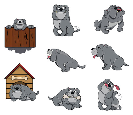 bull dog: Bulldog Character set collection