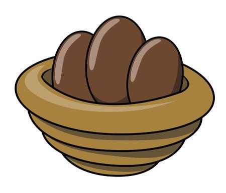 brown: Brown eggs Illustration