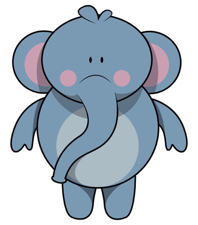 cute elephant: Elephant cartoon illustration Illustration