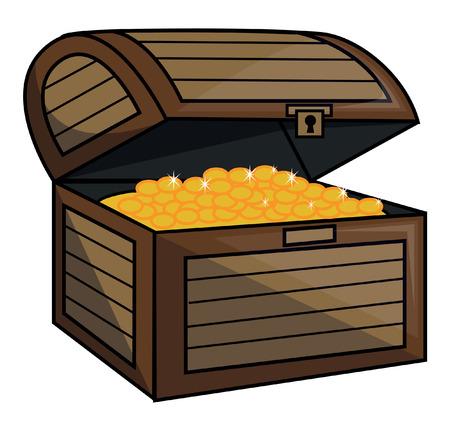 cofre del tesoro: Caja del Tesoro Vectores