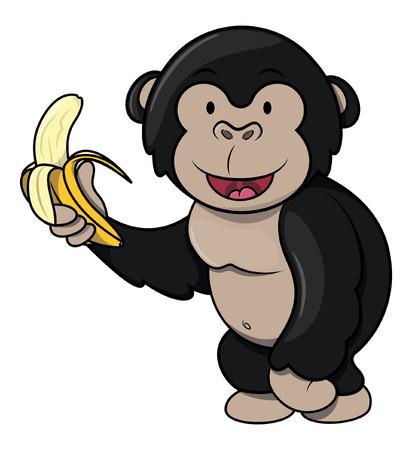 gorila: Gorila with banana