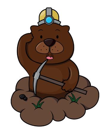 woodchuck: Groundhog cartoon illustration Illustration