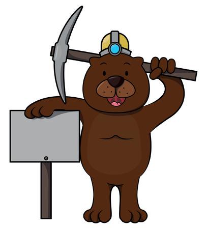 varmint: Groundhog cartoon illustration Illustration