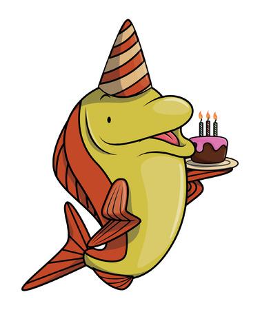sardine: Fisch-Geburtstags-Party Illustration