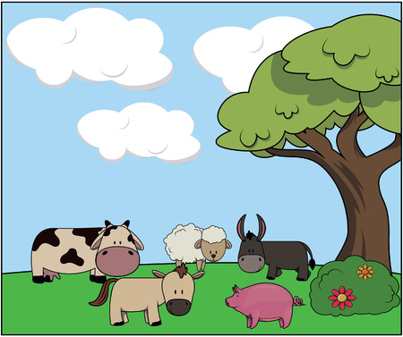 animal: Farm animal Illustration