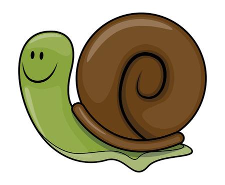 cartoon snail: Snail cartoon illustration Illustration