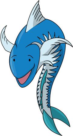mackerel: Mackerel fish cartoon Illustration
