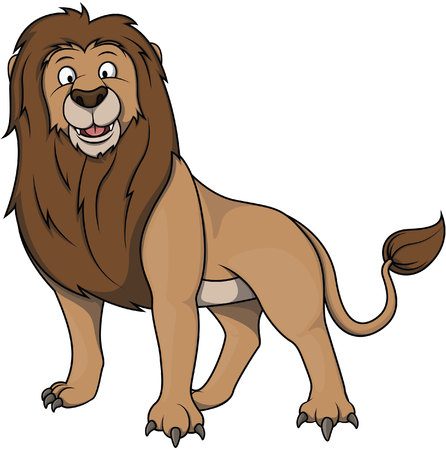 Lion cartoon illustration Illustration