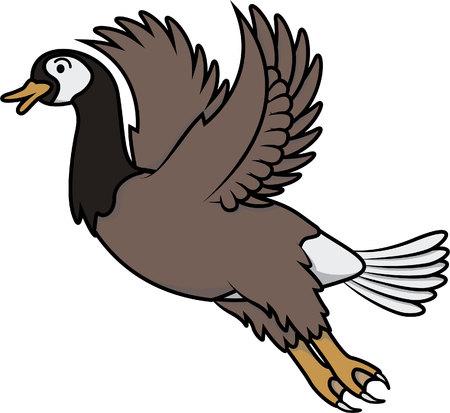 pato caricatura: Ilustraci�n de dibujos animados del pato