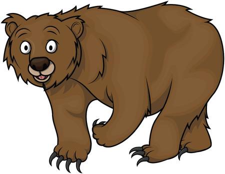 oso negro: Oso de dibujos animados