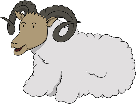 ram sheep: Ram sheep Cartoon Illustration