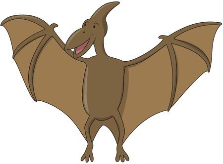 pteranodon: Flying dinosaur Cartoon Illustration