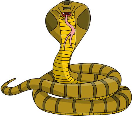 poisonous organism: Cobra cartoon illustration Illustration